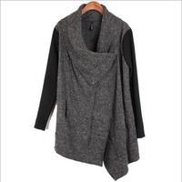 Irregular Women Warm Winter Trench Coat 2014 Fashion Women's Long Overcoat Big Size Female Jackets Plus Size Ladies Loose Coat