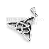 Free Shipping! 3pcs/LOT Stainless Steel Irish Triquetra Celtic Knot Amulet Pendant MEP582