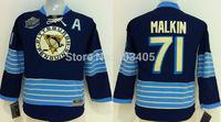 Discount Kids Pittsburgh Penguins Jerseys #71 EVGENI MALKIN BlackBlue Ice Hockey Jerseys Stitched Mix Orders