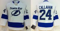 Discount Kids Tampa Bay Lightning Jerseys #24 Ryan Callahan White Ice Ice Hockey Jerseys Mix Orders Embroidery