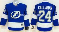 Discount Kids Tampa Bay Lightning Jerseys #24 Ryan Callahan Blue Ice Ice Hockey Jerseys Stitched Mix Orders