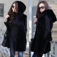 New Fashion 2014 Autumn Winter Women Warm Fur Jackets Coats Suit Outerwear Female Plus Size1491909