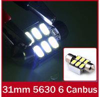 10x Canbus No OBC Error C3W COB 6 SMD 31mm 6 5630 5730 Led Festoon Lamps Auto Led Reading lamps Xenon White