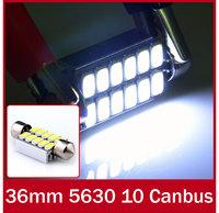 10 x 36MM 12 5630 SMD SUPER WHITE CANBUS LED MAP FESTOON BULBS DOME LIGHT LONG LIFE ERROR FREE LAMP