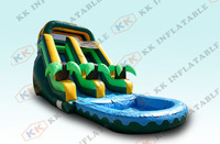 Hot sale PVC material water games inflatable water slides with small pool for kids