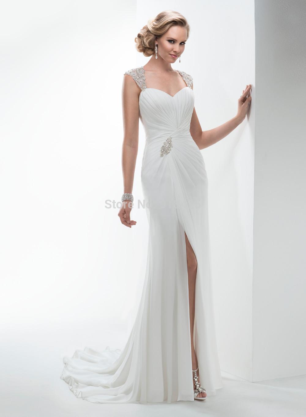 Casual robe de mariage de plage d'occasion