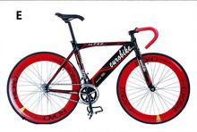 New 700C Single Speed Fixie Gear Bike Urban Road Bike Alloy Frame Red+(China (Mainland))