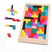 2014 New Kawaii Clever Puzzle Cute Children Toys Wooden Tangram Brain Teaser Jigsaw Board