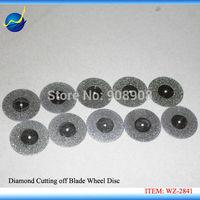 "10 x 22mm ( 7/8"" ) Dual Slided and Edge Mini Diamond Coated Tipped Rotary Cutting Cut-off Wheel Solid Saw Disc Dremel"