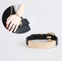 Trendy Brand Designer High Quality Vintage Leather Bracelets Bangles Lovers Couples Best Gift