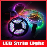 4M DC5V WS2811 WS2812b 60pixels 60 LEDs/M 5050 RGB SMD LED Digital Led Strip Dream Color Black PCB Waterproof IP67,20m/Lot