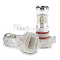 2 X  H16 48 LED 3014 SMD Car Fog Turn Signal Brake Reversing Light Lamp Bulb
