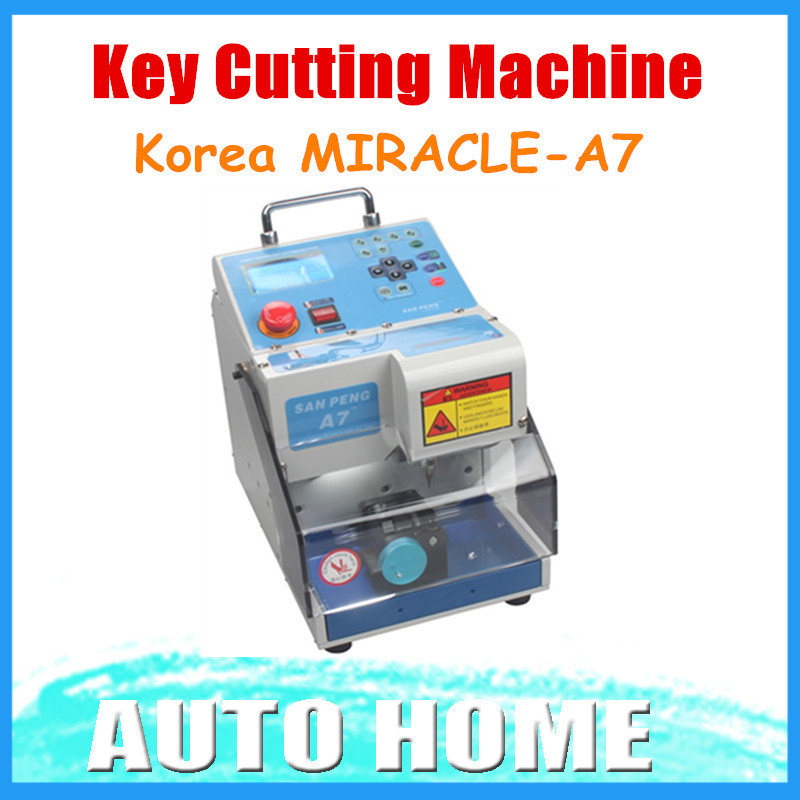 Promotion 2015 100% High Quality Korea MIRACLE-A7 Key Cutting Machine Free shipping to Many countries 3 Years Warranty(China (Mainland))