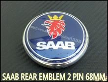 NEW SAAB 9-3 9-5 93 95 Boot Rear Trunk Emblem / Badge 2003-2010 Brand 12844161 2 Pin Free Shipping(China (Mainland))