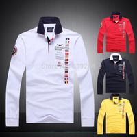 Hot Sale Aeronautica Militare T Shirt Man Shark Full Long Sleeve Men's T-shirts  Air Force One Brand Sport Shirts