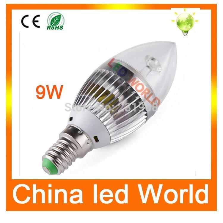 High quality led bulb E14 2835 SMD 3W/5W/9W led candle bulb lamps Warm White/Cool White,led lights AC110V-220V, Energy Saving(China (Mainland))