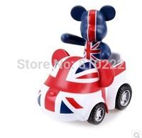 2 inch tall POPOBE Bear Car Momo bear Gloomy Bear Volence Bear Toy Car Interior Decorations Car Styling Ornaments Toy-UK flag