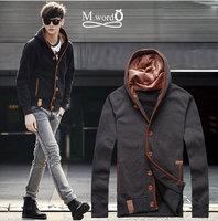hot sale 2014 new styles Men's Autumn hoody for men cardigan men's Hoodis Overcoat  Men's Cotton Jacket