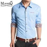 2014 New Dress Fashion Quality Long Sleeve Shirt Men's  Slim Fit ,Formal Casual Male Dress Shirt Size: M- XXXL