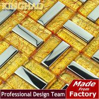 [KINGHAO] ship wheel building material glass tile wall cladding living room wall art silver wallpaper KF154804