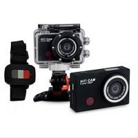 New Sport Wifi HD Full 1080P Like Hero3  Action Camera Waterproof Tachograph Digital Video Camera Wrist Watch Remote Control