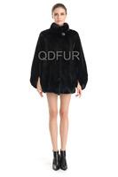 2014 Ladies' Genuine Mink Fur Coat Jacket Female Fur Outerwear Stand Collar Garment QD70765
