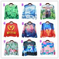 Men 3D Hoodies & Sweatshirts Fashion Long sleeve Cotton Galaxy Pullovers Casual 3d Print Sweater Tops Man Sexy Hip Hop Outerwear