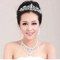 Bridal's Hair Accessories Rhinestone Crown Crystal Shining Headbands Headpiece for Wedding Bride Hair Accessories