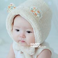 Retail Plush Cartoon Baby Kids Winter Warm Hats KOREA NEW Lovely Children's Earflap Hats Caps 1pc Free Shipping MZD-1412