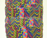 WM ribbon wholesale/OEM 5/8inch 140916055 Geometric Pattern Printed folded over elastic FOE 50yds/roll free shipping