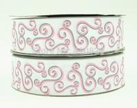 WM ribbon 140916050 1.5inch 38mm with Glitter Pattern Printed grosgrain ribbon 50yds/roll free shipping