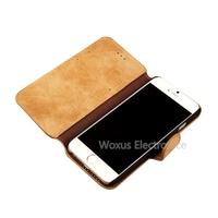 "Original Luxury Retro Golden Phoenix Genuine Flip Leather Case Credit Card Wallet Case For iPhone 6 4.7"" Phone"