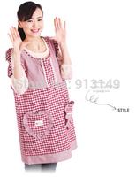 80% cotton sweet cartoon women kitchen Japan style waist sleeveless apron antifouling sanitary 12 color free shipping