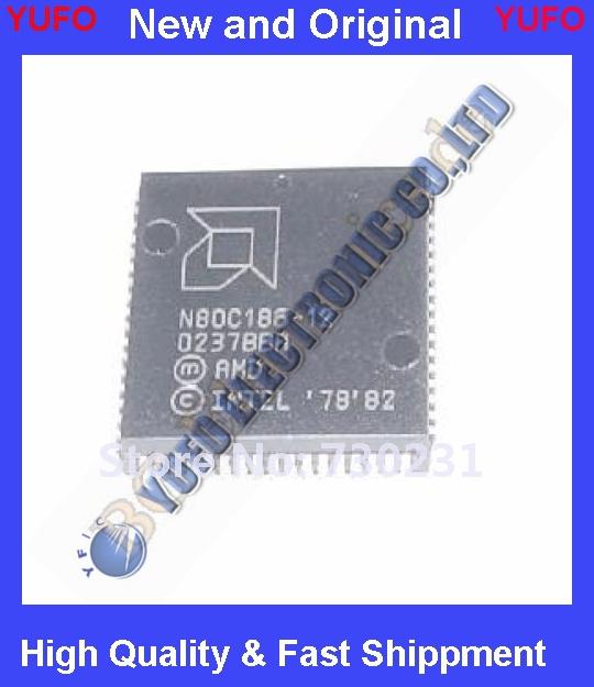 Free Shipping 1 x N80C186-12 CMOS High-Integration 16-Bit Microprocessors AMD PLCC-68 1pcs(China (Mainland))