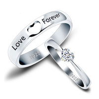 Love Forever Lovers Ring Silver Ring 100% Sterling Silver Jewelry  Top Quality! Christmas Gift  Free Shipping