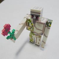 "Minecraft Overworld 4"" Action Figure Iron Golem with Flower Loose"