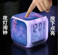 Frozen Anna, Elsa, Olaf LED Color Changing Alarm Clock