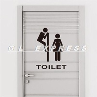 2014 Funny Toilet / Bathroom Door Sticker - Wallart Decal - Vinyl Sign / WC Pub Sign
