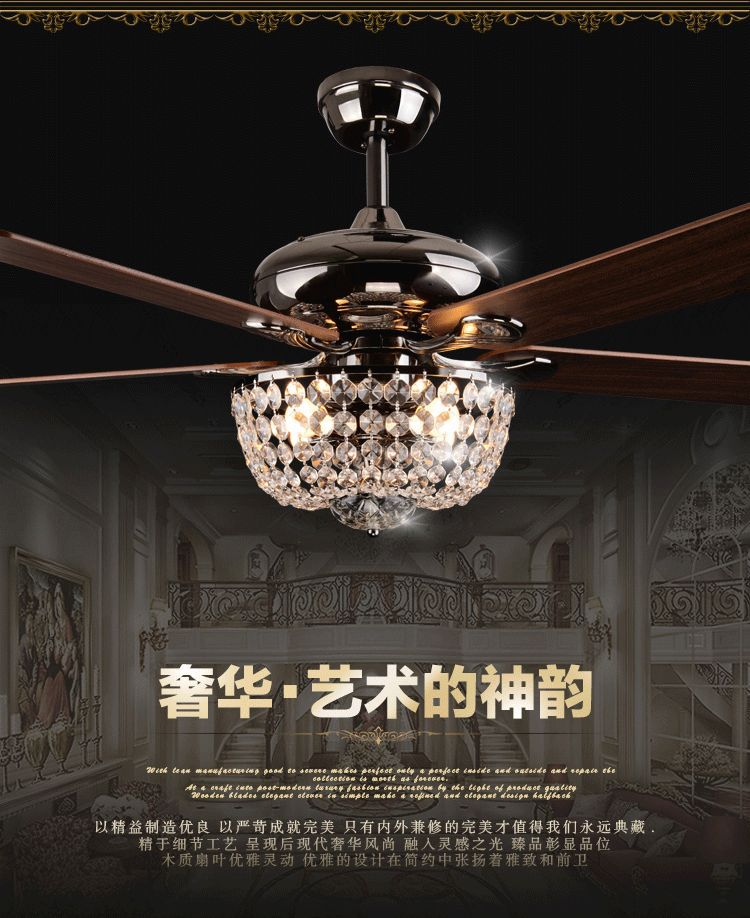 ... light fan light modern european fan lighting with remote control(China