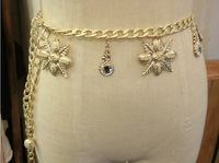 2014 New Maple Leaf-shaped women waist chain belt
