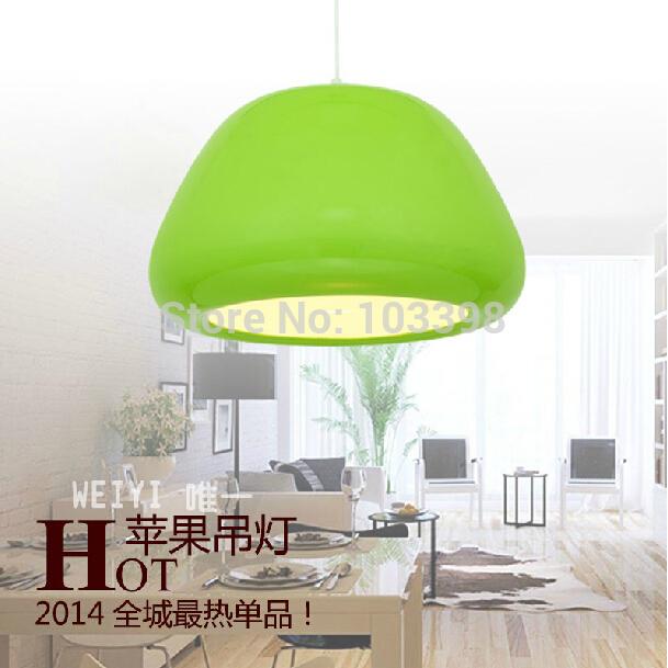 modern style lamp design 110v 220v e27 base green color diameter D32cm*H20cm pendant lights for home indoor residential lighting(China (Mainland))