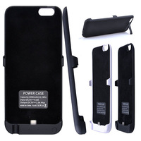 Newest Black Fashionable Slim Battery Case 3000mah For Apple iPhone-6  With Kickstand Case