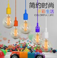 Art deco High quality eco-friendly multicolour silica gel lamp holder pendant lights item diy lamps DIY light bulb pendant lamps
