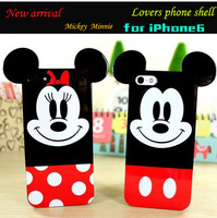 2014 New Arrival Fashion 15 style Super Cute Cartoon 3D Mickey Minnie Donald Daisy Duck Soft TPU Case For iphone 6 4.7 inch