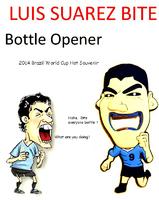 FG316 World Cup souvenirs Luis Suarez Bite Bottle wine bear  Opener creative  wholesale Free shipping
