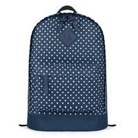 Unisex Large capacity polka dot canvas printing women backpack men's travel bag school bag laptop bag double zipper closure