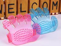 100Pcs/Lot Factory Direct pet bath brush fingers palm brush dog brush pet supplies Free Shipping