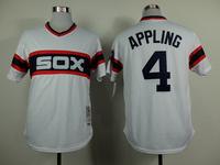 Mix order cheap stitched 4 Luke Appling baseball jersey, men's Baseball shirt