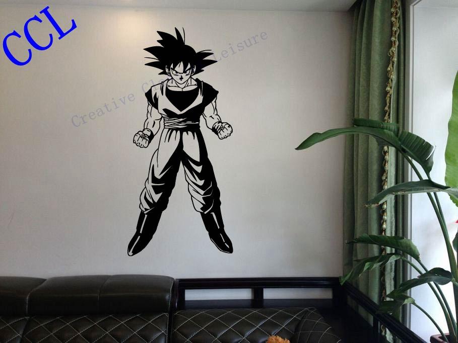 Free shipping Dragon Ball Z Goku Anime Manga Decor Wall mural vinyl Decal sticker, P2064(China (Mainland))