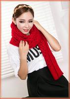 Autumn/winter scarf couples women big-name mohair scarf Hole hole thickening warm monochromatic scarf